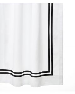 Elliot Double Appliqued  Sateen Tape Shower Curtain - Available in a Variety of Tape Colors & Sizes