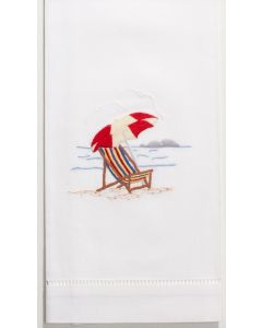 Embroidered Beach Chair Hand Towel - ONE IN STOCK IN GREENWICH, CT FOR QUICK SHIPPING