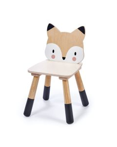 Enchanted Forest Wooden Fox Chair for Kids