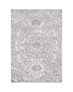 Erica Grey Geometric Floral Design Area Rug - Available in a Variety of Sizes
