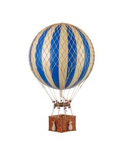 Extra Large Blue & Gold Striped Hot Air Balloon Model