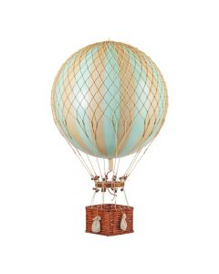 Extra Large Mint & Gold Striped Hot Air Balloon Model
