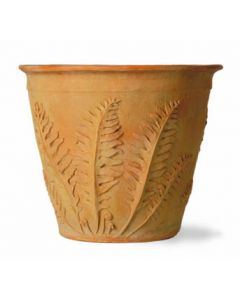 Fern Garden Pot in a Terracotta Finish - Available in Three Different Sizes