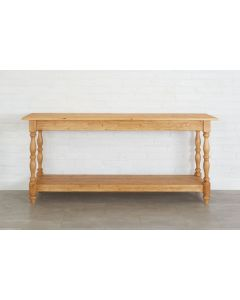 Handcrafted European Pine Belgian Monastery Console Table in Natural - BACKORDERED UNTIL MARCH 2021