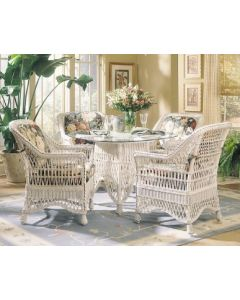 Five Piece Braided Wicker Dining Set- Available in a Variety of Finishes