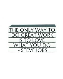 """""""The Only Way To Do Great Work Is To Love What You Do"""" Five Volume Steve Jobs Quote Set of Decorative Books"""