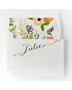 Floral Design Personal Stationery, Set of 50