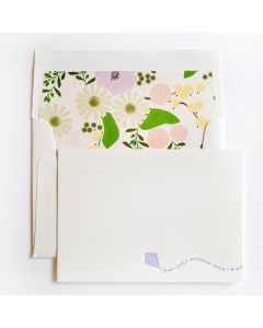 Floral Personal Stationery, Set of 50