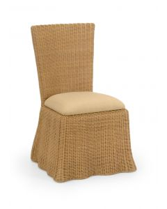 Florence Wicker Waves Scalloped Dining Chair in Natural