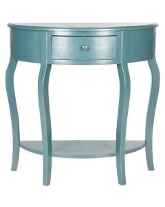 French Country Console Table in Teal