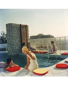 """Slim Aarons """"Penthouse Pool"""" Print by Getty Images Gallery - Variety of Sizes Available"""