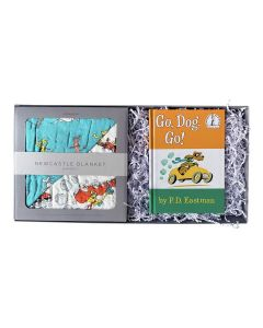 Go, Dog. Go! Bamboo Muslin Baby Blanket and Childrens Book Gift Set