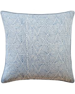 Graphic Design Decorative Throw Pillow in Slate Blue - Available in Three Sizes