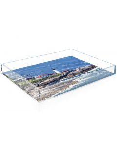 """Gray Malin """"The Lighthouse"""" Acrylic Decorative Serving Tray - Available in 2 Sizes"""