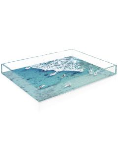 """Gray Malin """"The Ocean Surfers"""" Acrylic Decorative Serving Tray - Available in 2 Sizes"""