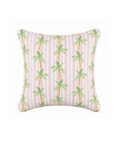 Gray Malin For Cloth & Co. Palm Tree Stripe Pink Throw Pillow