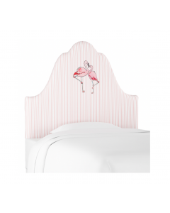 Gray Malin for Cloth & Company Flamingo Stripe Pink Kids Headboard - Available in 3 Sizes