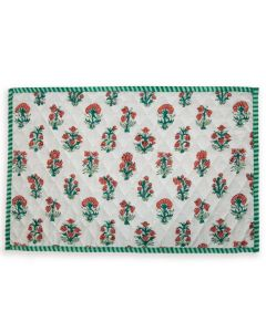 Green and Red Floral Delphi Placemat