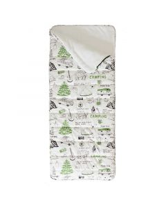 Green Campout Sleeping Bag for Kids