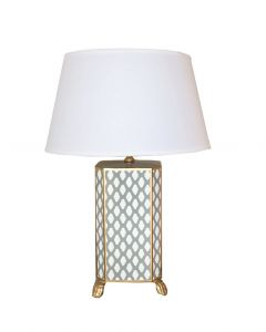 Grey Parsi Table Lamp with White Shade