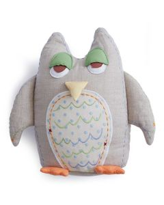 Grey Owl Kids Pillow with Tooth-fairy Pocket