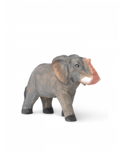 Hand Carved and Painted Toy Elephant