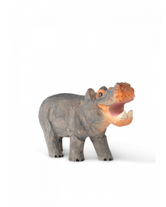 Hand Carved and Painted Toy Hippo