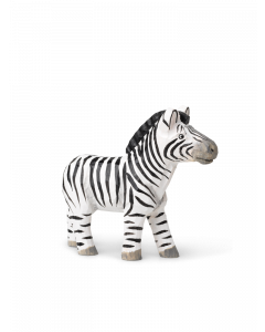 Hand Carved and Painted Toy Zebra