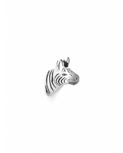 Hand Carved and Painted Zebra Head Wall Hook