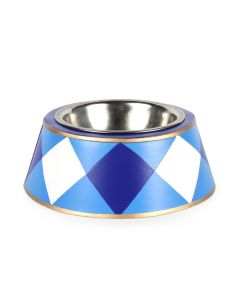 Hand Painted Buffalo Plaid Pet Bowl - Available in Two Different Colors