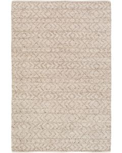 Hand Woven Ivory Zig Zag Rug, Available in a Variety of Sizes