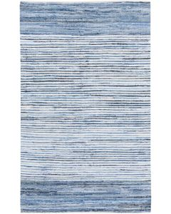 Hand Loomed Blue Striped Area Rug  Available in a Variety of Sizes