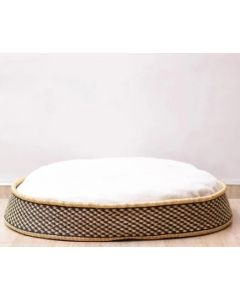 Handcrafted Elephant Grass Dog Bed for Two - Available in Three Colors