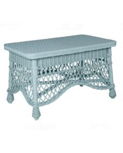 Handcrafted Wicker Coffee Table with Pineapple Feet – Available in a Variety of Finishes