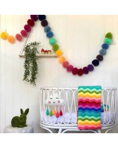 BARGAIN BASEMENT ITEM: Handmade Crochet Rainbow 3 Piece Set - IN STOCK IN GREENWICH CT FOR QUICK SHIPPING