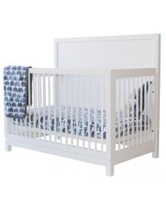 Handmade Wood Modern Custom 3-in-1 Conversion Crib - Available in a Variety of Finishes