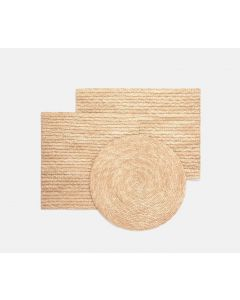 Set of 4 Handwoven Straw Placemats in Natural