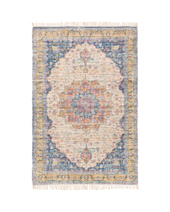 Hannah Multicolor Hand Woven Jute Area Rug With Fringe - Available in a Variety of Sizes
