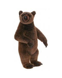 Brown Grizzly Bear Stuffed Animal Toy for Kids
