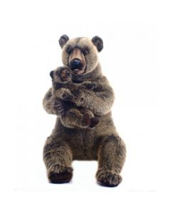Grizzly Bear Mama with Baby Mechanical Stuffed Animal Toy for Kids - LOW STOCK!