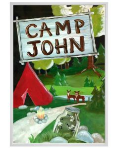 Happy Camper Canvas Children's Personalized Wall Art