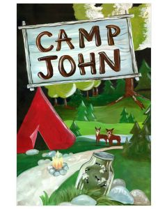 Woodland Camp Inspired Canvas Wall Art for Kids With Optional Personalization