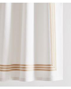 Harlow Triple Band Tape Trim Shower Curtain - Available in a Variety of Trim Colors and Sizes