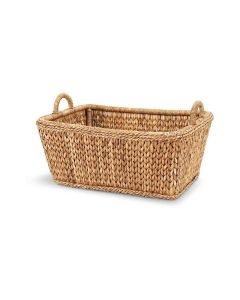 Harvested Rattan Wicker Market Basket with Handles