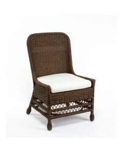Harvested Rattan Wicker Dining Side Chair with Cushion - Available in a Variety of Colors and Fabrics