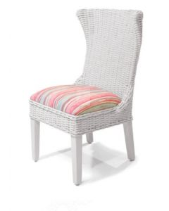 High Back Wicker Dining Side Chair - Available in a Variety of Finishes