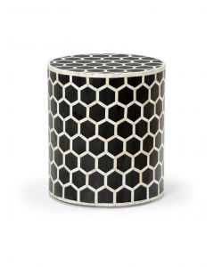 Black Honeycomb Inspired Side Table