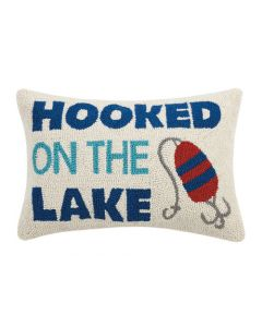 Hooked on the Lake Decorative Throw Pillow