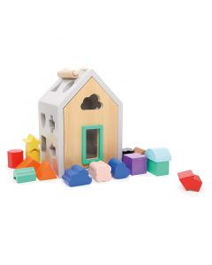 House Wood Shape Sorter Toy for Toddlers