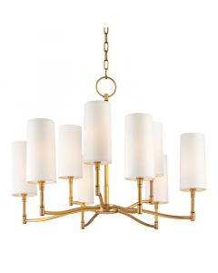 Hudson Valley Lighting Dillon 9 Light Curved Arm Candlestick Chandelier - Available in 3 Finishes